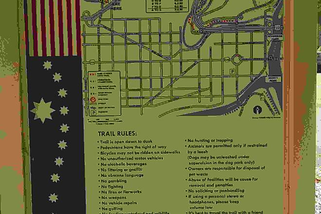 Karl Stirner Arts Trail  trail map