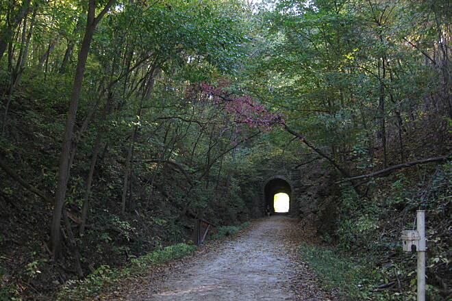 Katy Trail State Park Rocheport Tunnel