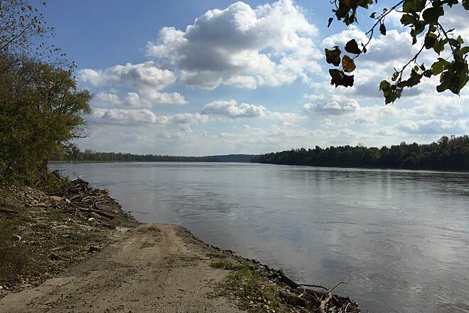 Katy Trail State Park Wide Missouri! View of the Missouri River near MO 94 & the Katy Trail, west of Treloar