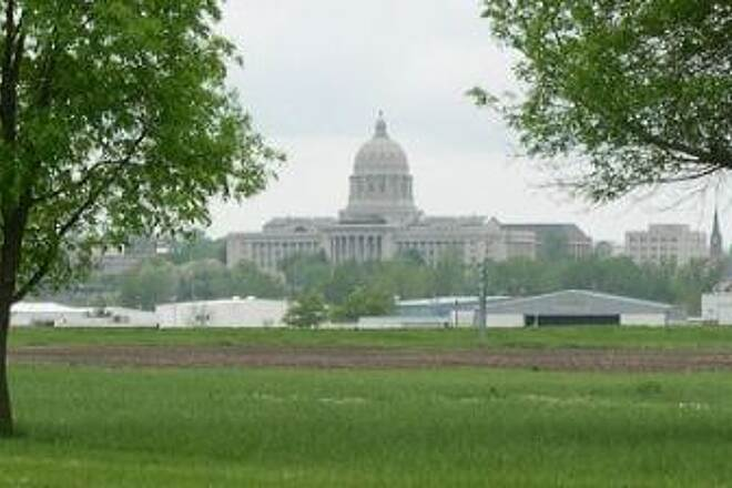 Katy Trail State Park State Capital View from the trail of the state capital building in Jefferson City.