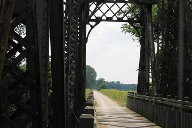 Katy Trail State Park Another Bridge View looking east; notice the humidity in the background.
