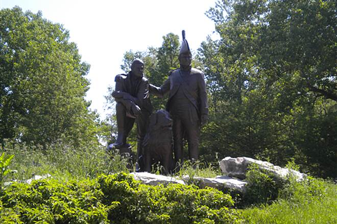 Katy Trail State Park Lewis & Clark Statue by St Charles just off the Katy Trail