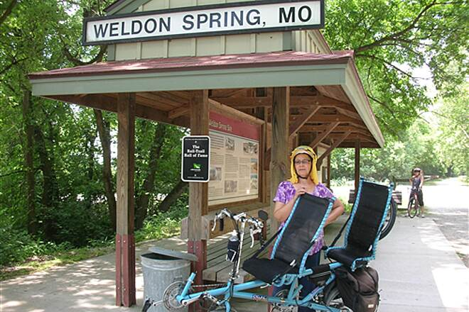 Katy Trail State Park   Rest at Weldon Spring after the ride from St. Charles
