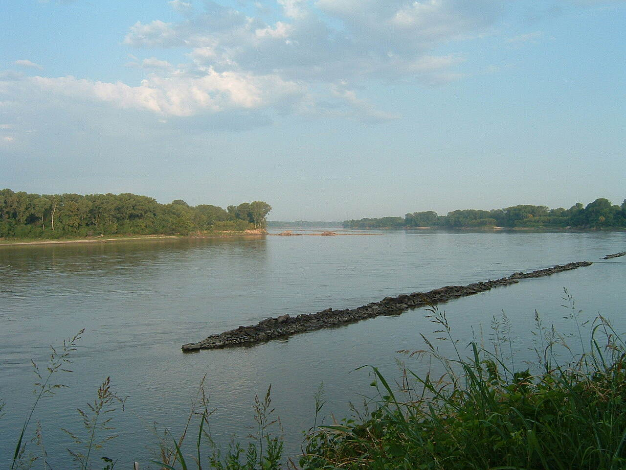 Katy Trail State Park Missouri River at Rocheport View of Missouri River east of Rocheport with groins placed by Corps of Engineers to control current.