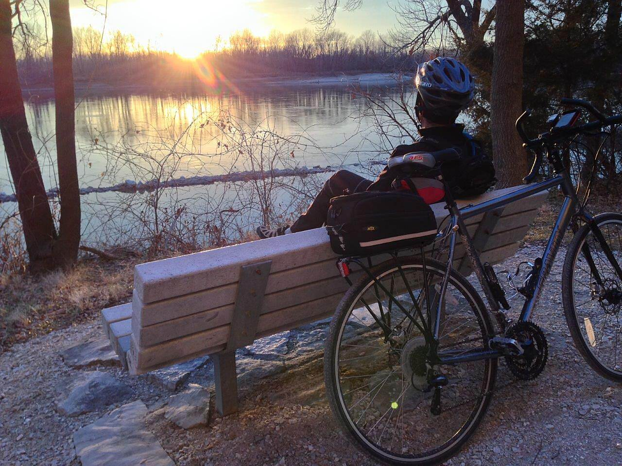 Katy Trail State Park Sunset Along The Muddy Mo' The end to a perfect day's ride!
