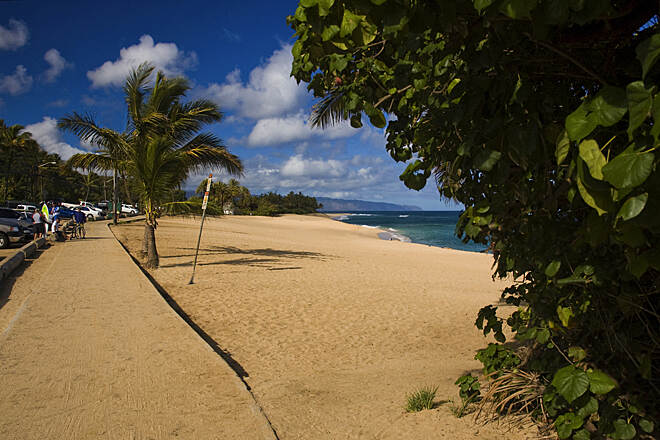Ke Ala Pupukea Bike Path Bike Path at Sunset Beach The Ke Ala Pupukea Bike Path is heavenly, you travel near the beach or through verdant vegetation for about 3 miles. The only problem with the bike path is it's not long enough!