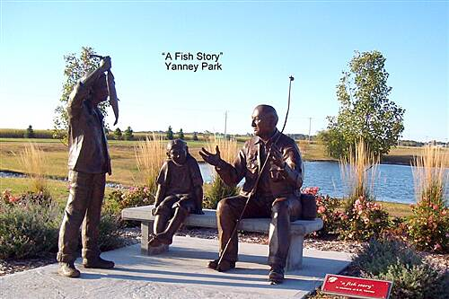 Kearney Hike and Bike Trail Cottonmill - Fort Kearny Trail ' a Fish Story'