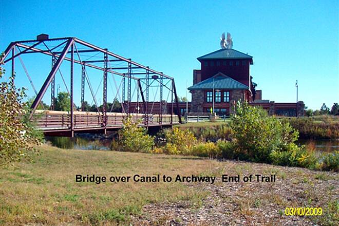 Kearney Hike and Bike Trail Pioneer's Path Bridge to Archway Monument