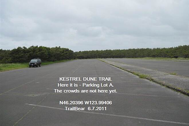 Kestrel Dune Trail KESTREL DUNE TRAIL Here it is:  Parking Lot A with beach access, no restrooms.