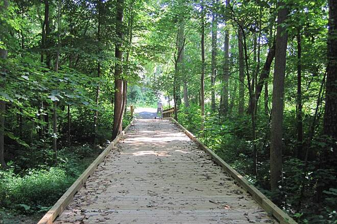 Kings Mountain Gateway Trail Boardwalk on Foote Trail