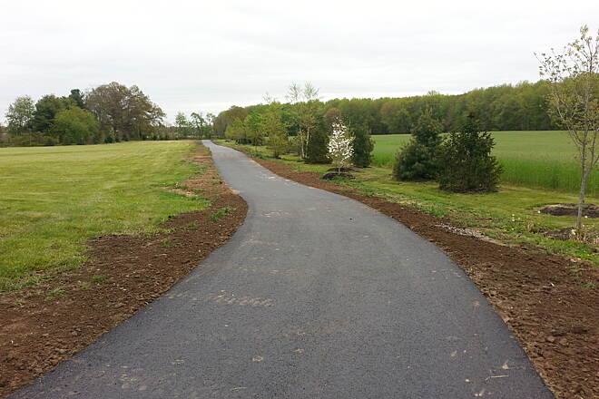 Kinkora Rail Trail Mansfield Park entrance  Construction is nearing completion on a 2 mile section on Mansfield Twp.