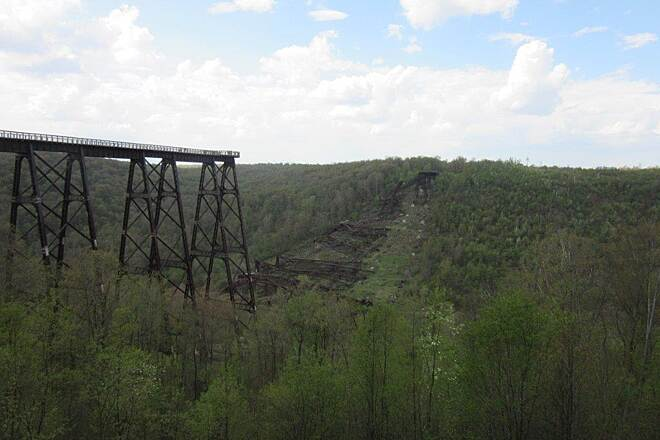 Kinzua Bridge Skywalk Skywalk May 2015 at the Skywalk