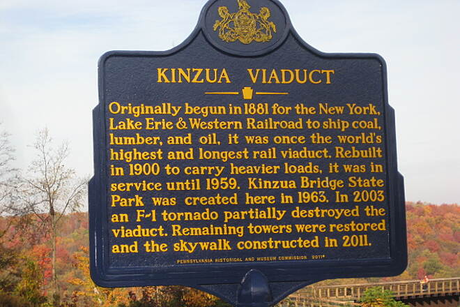 Kinzua Bridge Skywalk Kinzua Bridge Placard Taken in October, 2011- not long after the walkway was open to the public.
