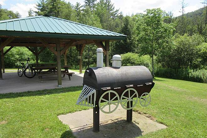 Kinzua Valley Trail Picnic shelter and grill Picnic shelter and grill, Westline end of the trail