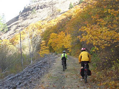 Klickitat Trail Klickitat Trail Riding Swale Canyon in the fall