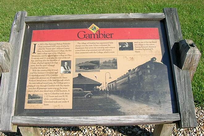 Kokosing Gap Trail Gambier Plaque Plaque of Gambier -- town alongside trail