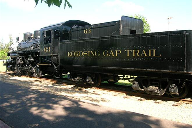Kokosing Gap Trail KokosingGapTenderCar The steam engine's tender is labeled for the Kokosing Gap trail (at Gambier rest stop)