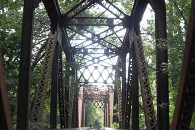 Kokosing Gap Trail Iron Bridge One of the many iron bridges you cross between Mt. Vernon and Gambier