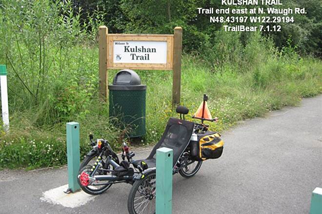 Kulshan Creek Trail KULSHAN TRAIL The trail ends at N. Waugh Rd.