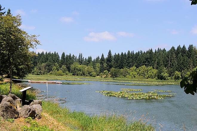 Lacamas Heritage Trail Lacamas Heritage Trail View of Lacamas Lake from trail.