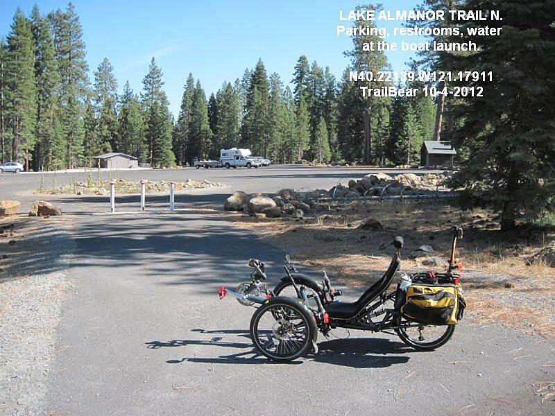 Lake Almanor Recreation Trail LAKE ALMANOR REC. TRAIL - NORTH Restrooms, water and parking at the boat launch (day use fee).