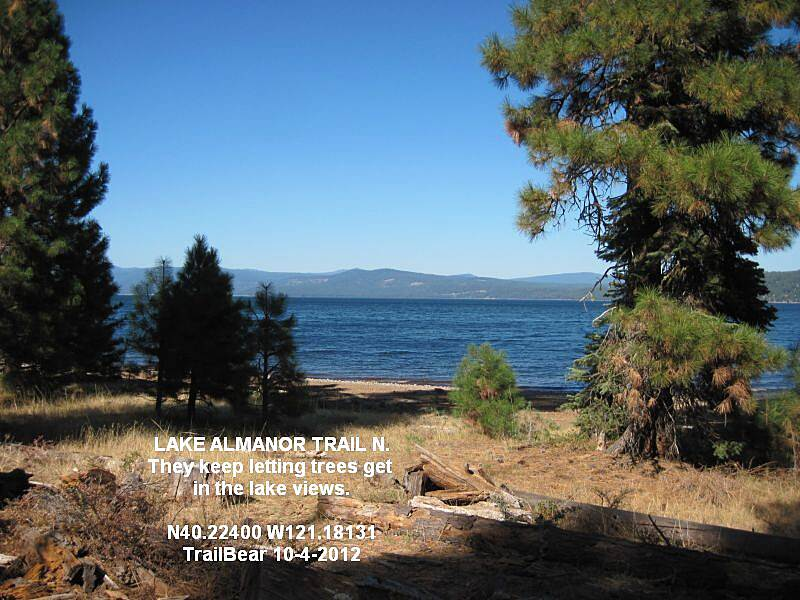 Lake Almanor Recreation Trail LAKE ALMANOR REC. TRAIL - NORTH They need to manage the good lake views for the view.  Get busy with the chain saw.