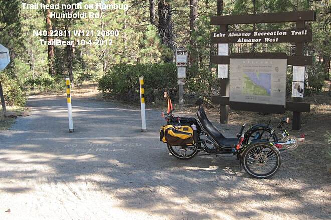 Lake Almanor Recreation Trail LAKE ALMANOR REC. TRAIL - NORTH The trail is better than the road in to the trail head.