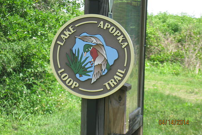 Lake Apopka Loop Trail Information Kiosk Information Kiosk at the Clay Island trailhead.