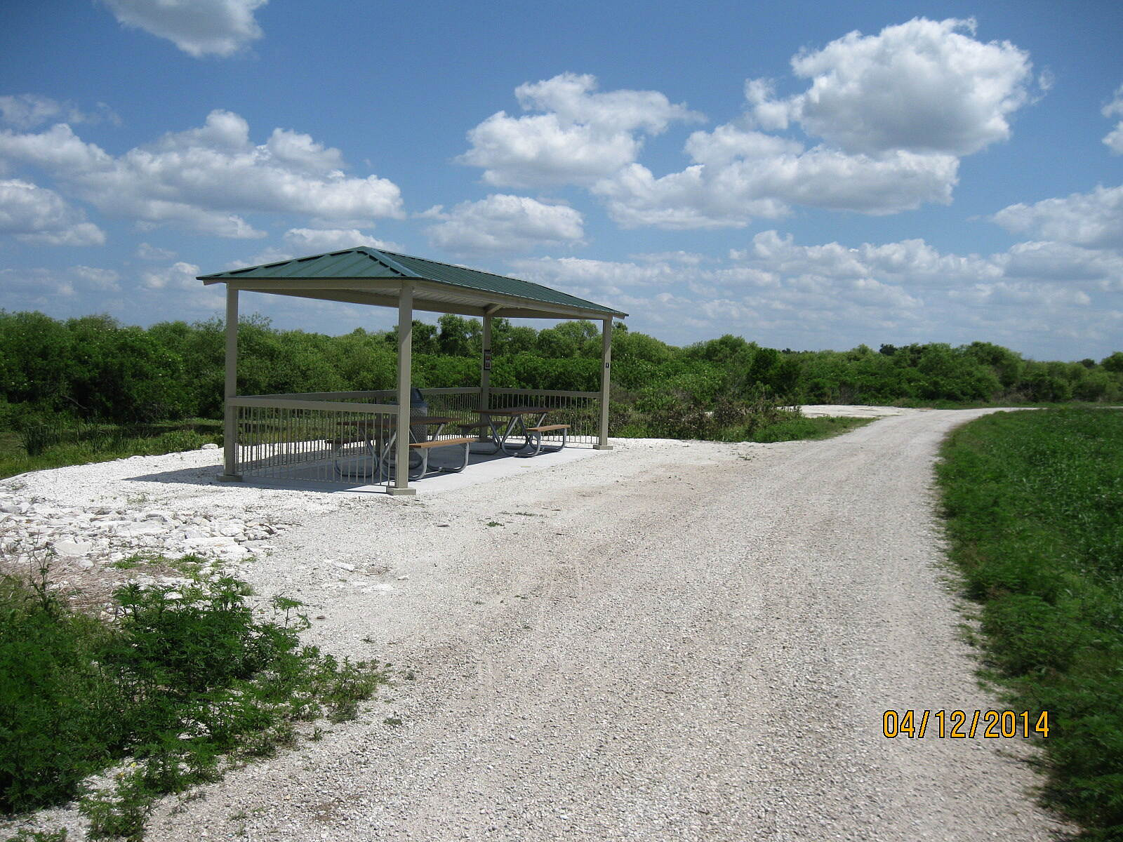 Lake Apopka Loop Trail Picnic Shelter This picnic shelter is located at mile marker 8.7 in Orange County.