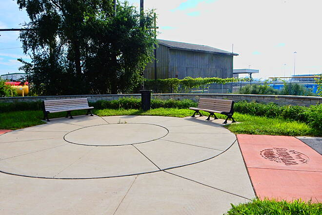 Lake George Trail Nice small plaza Just outside Whiting Lakefront Park, 8-26-16