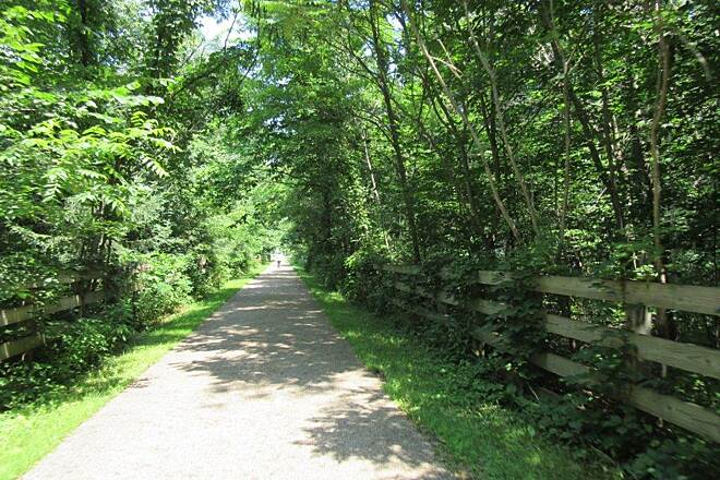 Lake Metroparks Greenway Corridor Trail Along the trail-July 2015