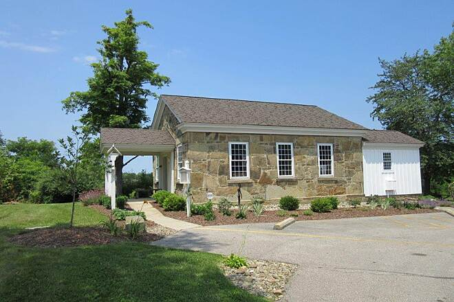 Lake Metroparks Greenway Corridor Old Stone School-Parking PArking at the old stone school building in COncord