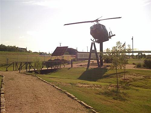 Lake Mineral Wells State Trailway Memorial park helo