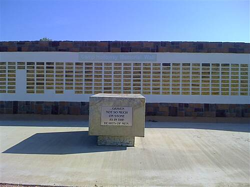 Lake Mineral Wells State Trailway Memorial Park memorial wall