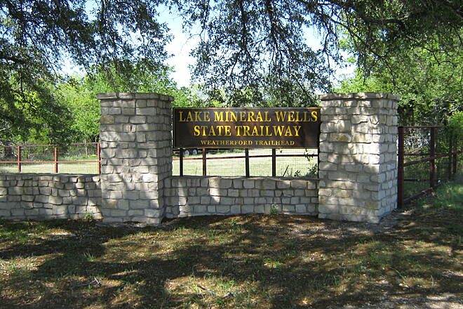 Lake Mineral Wells State Trailway Lake Mineral Wells Trail Weatherford Trailhead