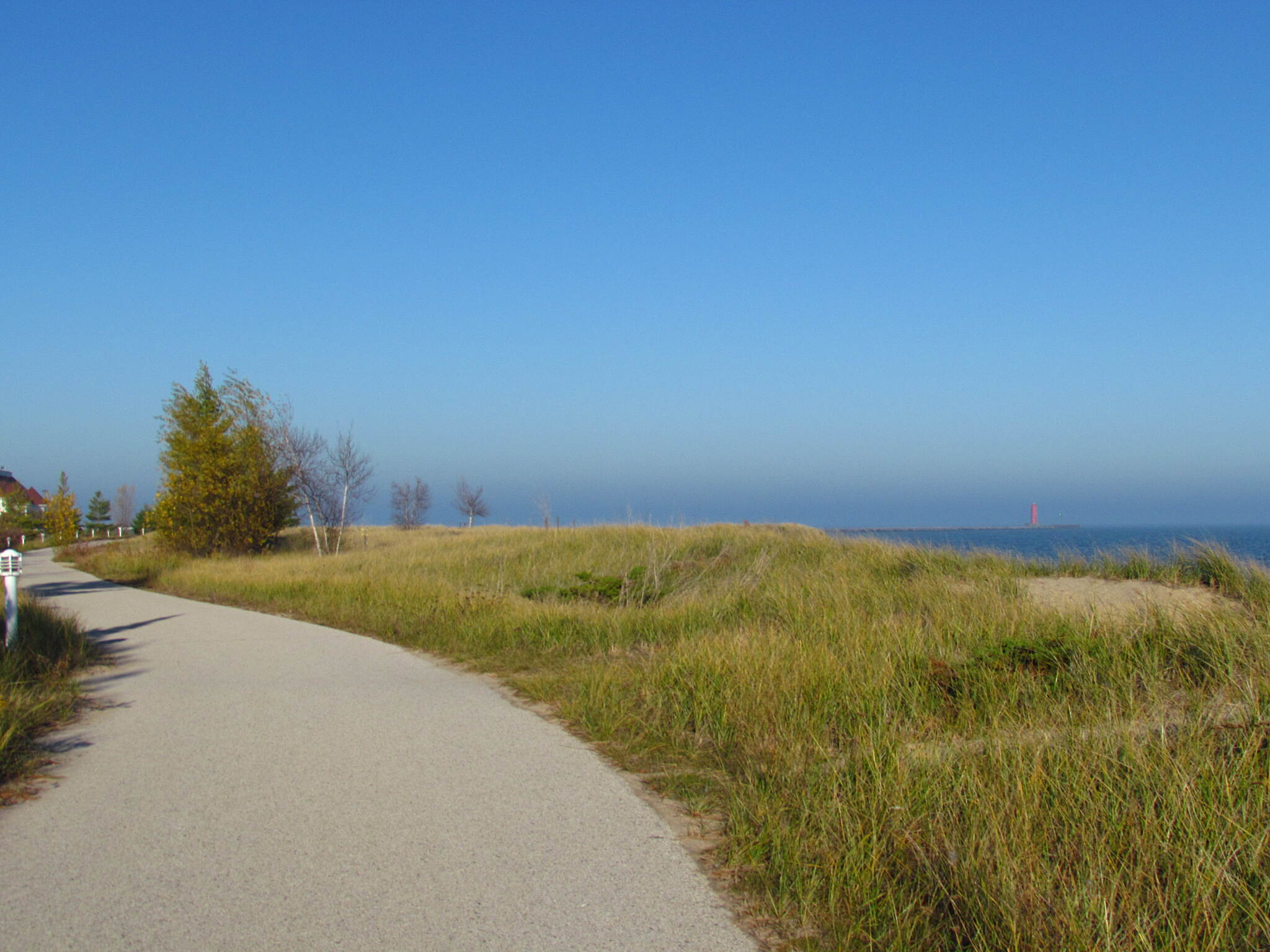 Lakefront Bike Path Lakefront trail Nice day in November.
