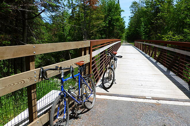 Lamoille Valley Rail Trail Lamoille Valley Rail Trail Update June 20, 2015: LVRT is nearing completion.  We rode 17 miles from the St Johnsbury trailhead to the end of construction in West Danville.  There was still 2-3 miles of ballast and 1 bridge under repair.   85-90% done! Ride on weekends only for now!