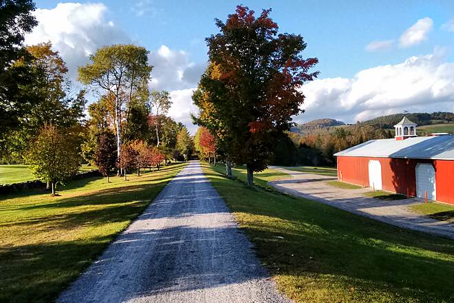 Lamoille Valley Rail Trail Views from Danville Many miles are in the woods on the LVRT, heading west 10 miles from St Johnsbury, the trail breaks out with some great Vermont views (Taken Oct 7, 2015)