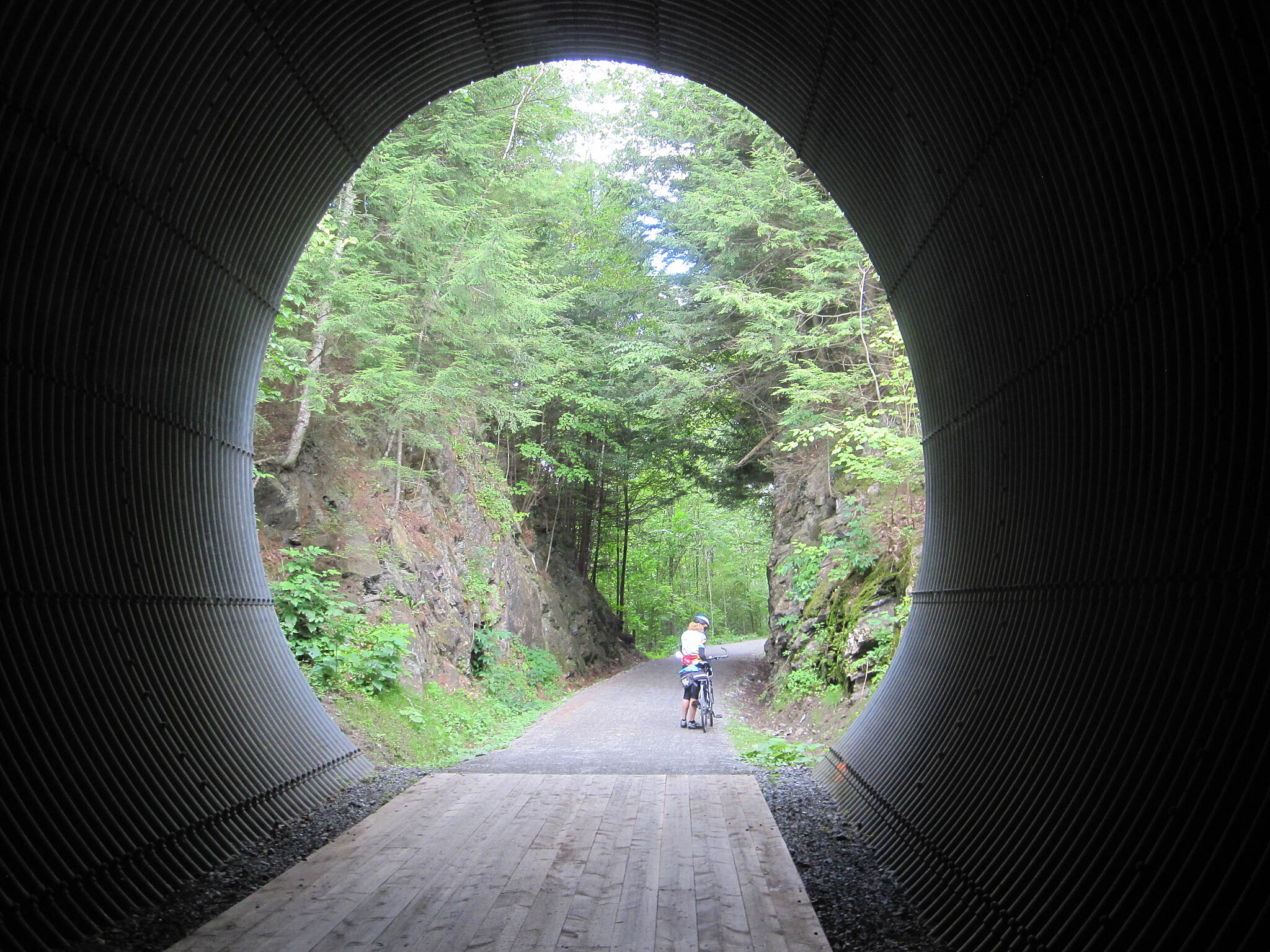 Lamoille Valley Rail Trail Looking East Tunnel to Cut