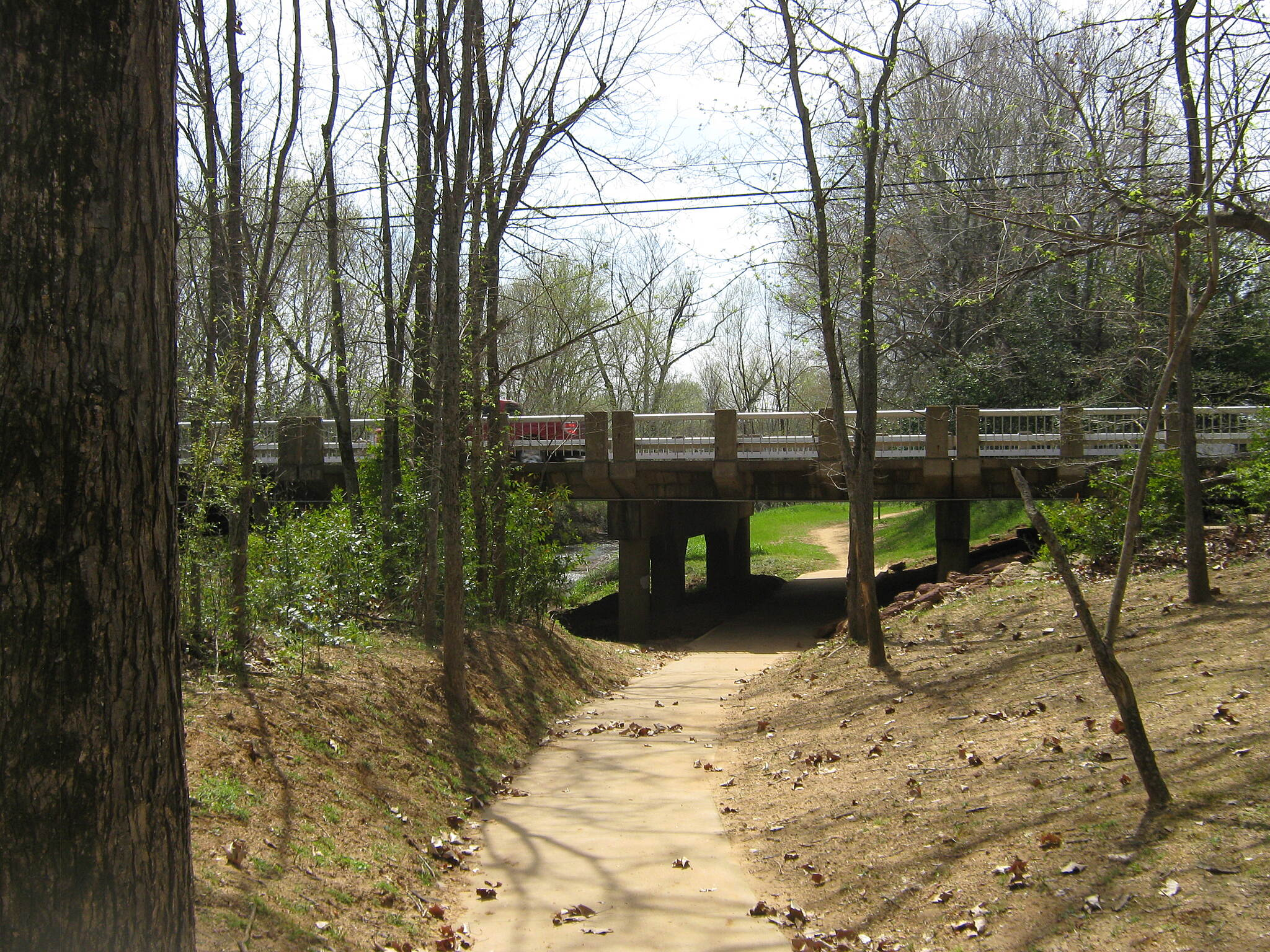 Lanana Creek Trail La Nana Creek Trail Under the bridge and close to the creek.