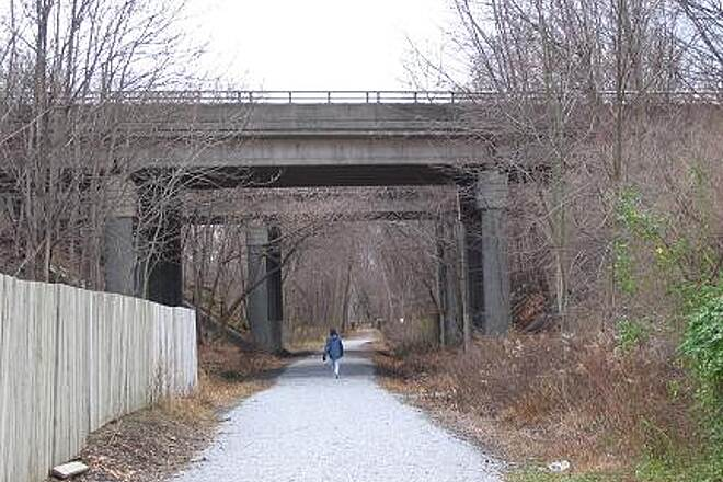 Landsdown Trail Landsdown Trail The trail crosses under busy Interstate Route 78 in Clinton.