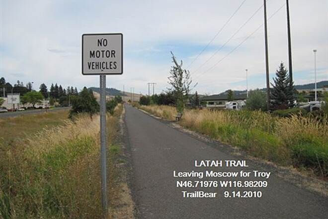 Latah Trail LATAH TRAIL Trail is leaving Moscow