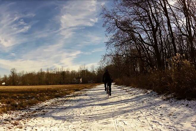 Lawrence Hopewell Trail On the trail in Jan 2015 Get time found a 40 degree day