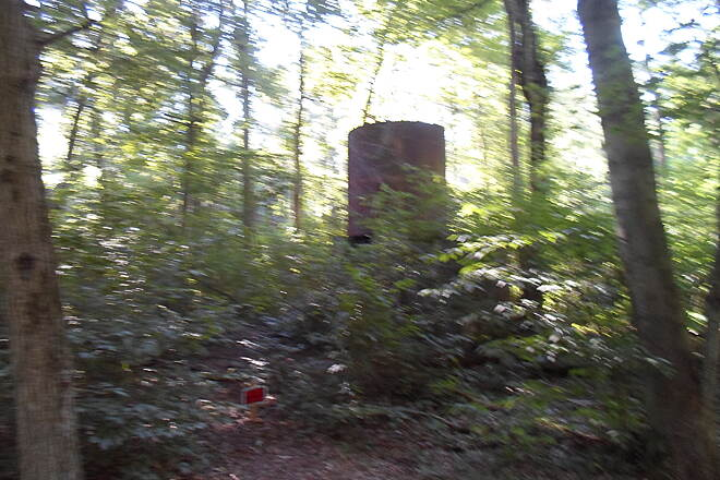Lebanon Valley Rail-Trail Lebanon Valley Rail Trail Located in the woods off the branch path into Mt. Gretna, this water tank is a relic from the days of the RR.
