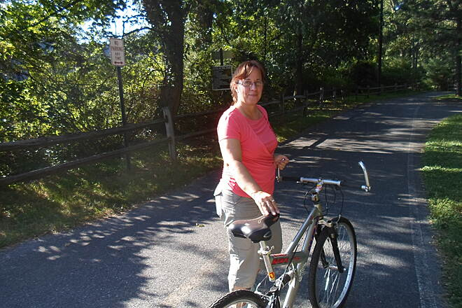 Lebanon Valley Rail-Trail Lebanon Valley Rail Trail This woman was getting ready to take a bike ride from Mt. Gretna down the LVRT. Taken on a warm summer day in Aug. 2015.