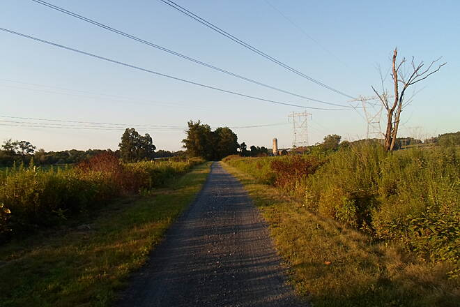 Lebanon Valley Rail-Trail Lebanon Valley Rail Trail Bucolic farmscapes along the trail at sunset in late summer. Taken Aug. 2015.