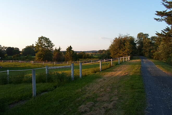 Lebanon Valley Rail-Trail Lebanon Valley Rail Trail Passing horse pastures near Lawn. Taken Aug. 2015.