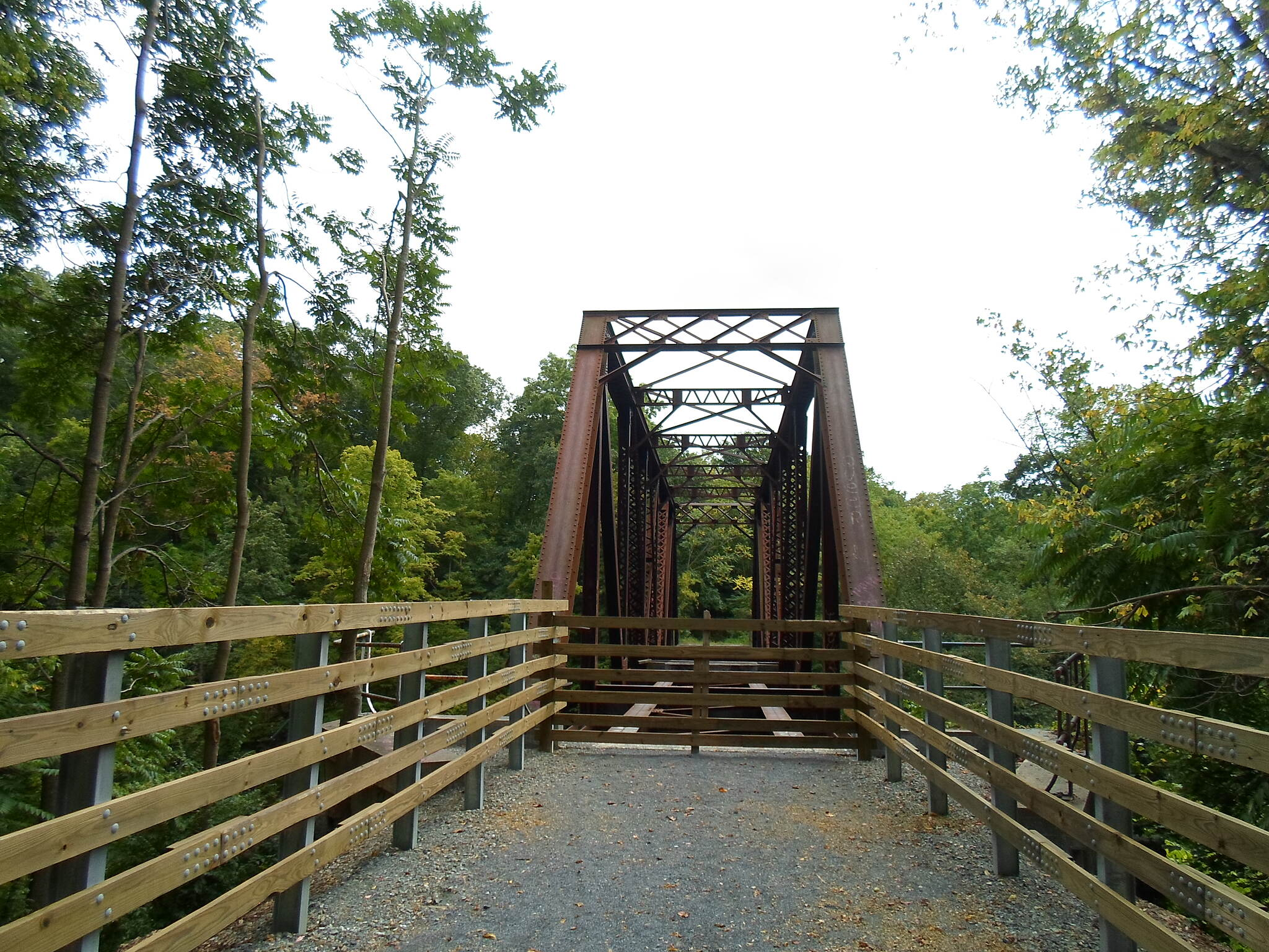 Lebanon Valley Rail-Trail Lebanon Valley Rail Trail The new segment of the trail near Jonestown currently dead-ends at this iron trestle over the Swatara Creek. The trestle, which currently has no decking, is scheduled to be restored and incorporated into the trail in 2018. Taken Sept. 2016.