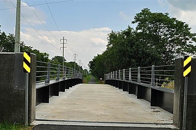 Lebanon Valley Rail-Trail Overpass - Wilhelm Ave., Lebanon Pa Newly opened safe access on trail