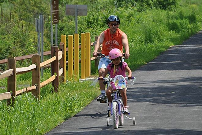 Lebanon Valley Rail-Trail Northbound from Cornwall Family on the move!